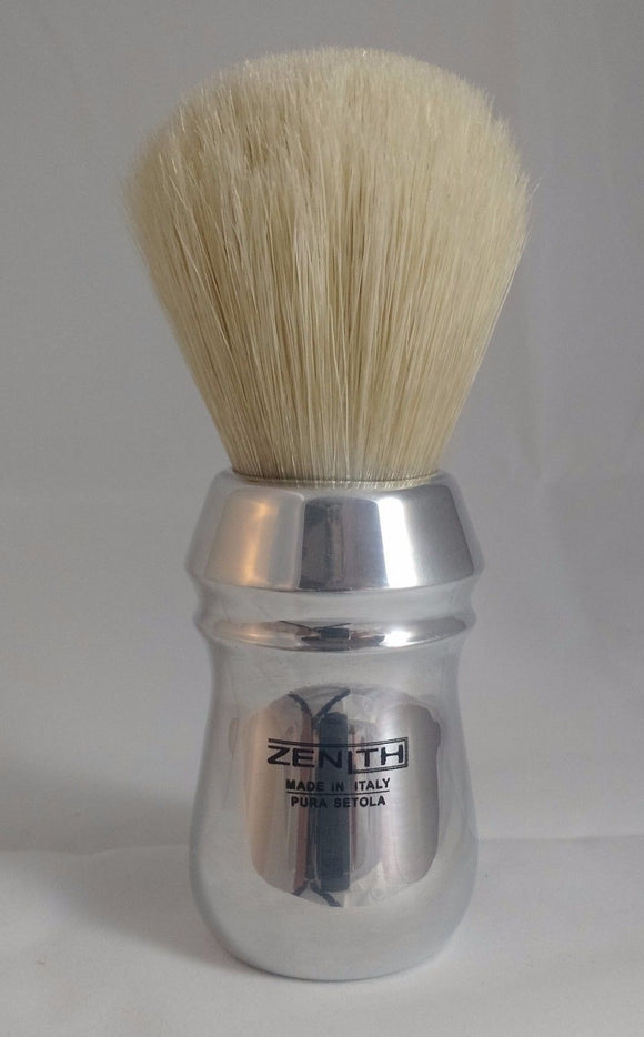 Big Scrubby Zenith Pro Aluminum Handle XL Boar Shave Brush. 28x54mm knot. B14
