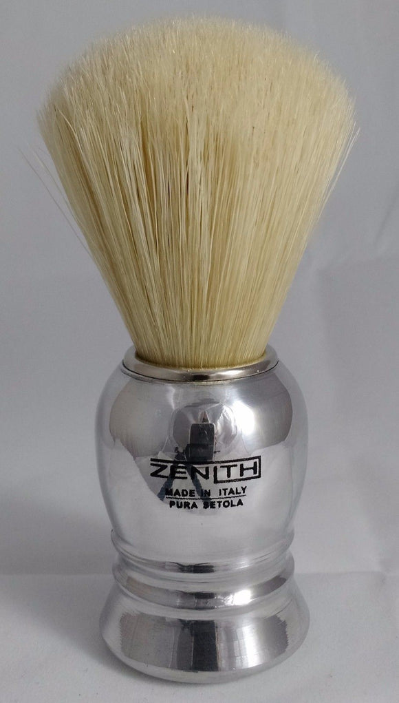 Normal Size Aluminum Handle Boar Shave Brush by Zenith. 24mm. B16