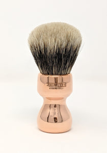 Zenith Copper Manchurian Badger Brush. 27.5mm Made In Italy M23