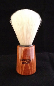 Conical Wood Handle Boar Shave Brush by Zenith 22 x 57mm Knot. B5
