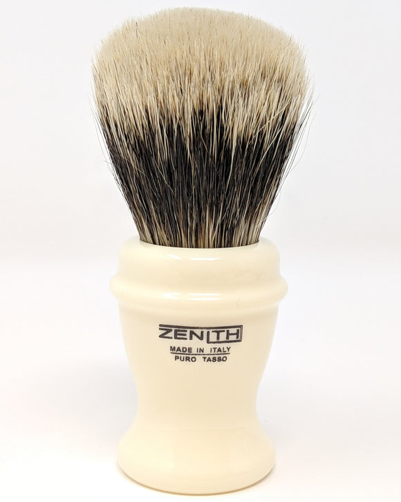 Zenith Classic Ivory Resin Manchurian Brush. Made in Italy. M21