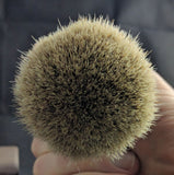 Black Resin Manchurian Badger Shave Brush by Zenith M4