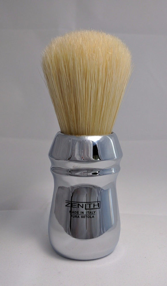 XL Pro All Metal Chromed Big Boar Shave Brush by Zenith. 27x57mm B20