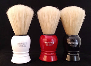 Plastic Boar Shave Brush by Zenith 24x57mm. Three colors B10