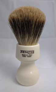 Resin Handle XL Best Badger Ivory Shave Brush by Zenith T3