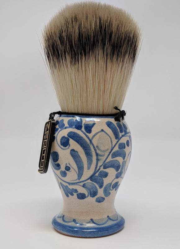 Handcrafted Sicilian Ceramic Synthetic Brush by Zenith. 29mm Knot. S12
