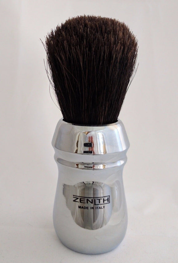 XL Chromed Copper Handle Horse Brush All metal Handle by Zenith. H5