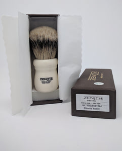 Zenith Ivory Silvertip Brush. XL 28mm. Made in Italy. Compare to RazoRock. P2