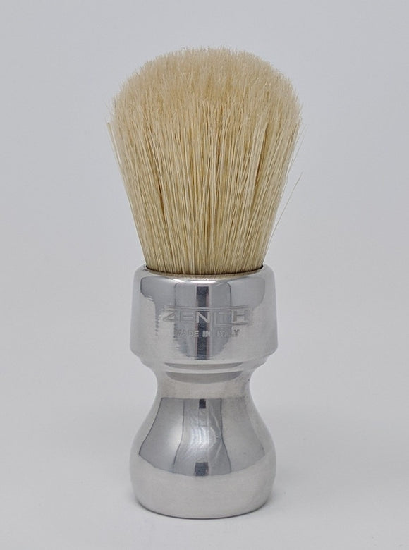 Short Retro Aluminum Handle Boar Brush by Zenith Made In Italy B30