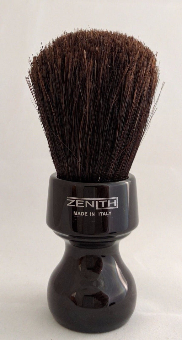 Zenith Horse Brush With Black Resin Handle. H3