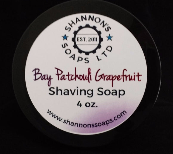 Bay Patchouli Grapefruit by Shannon's Soap Tallow/Lanolin/Essential Oil 4 ounce.