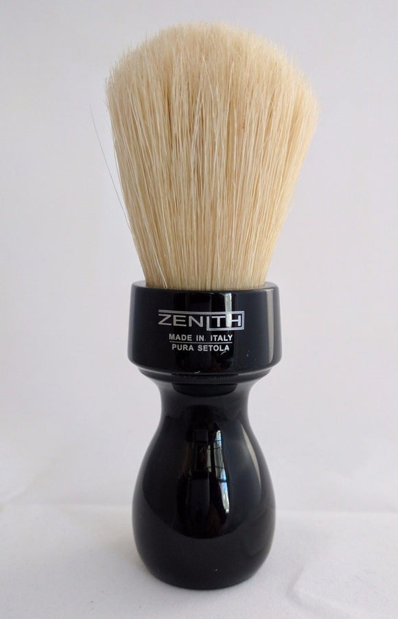 Retro Black Resin Boar Shave Brush by Zenith B23