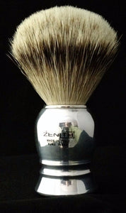 Normal Sized Aluminum Handle Silvertip Badger Shave Brush. 24.5mm. P4