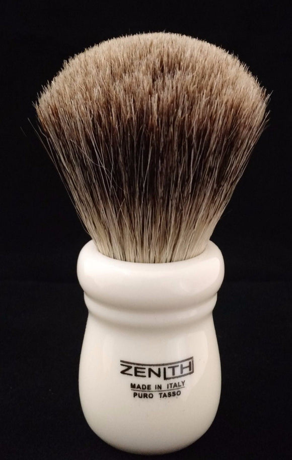Zenith Ivory Best Badger Brush. XL 28mm. Made in Italy. Compare to RazoRock. T5
