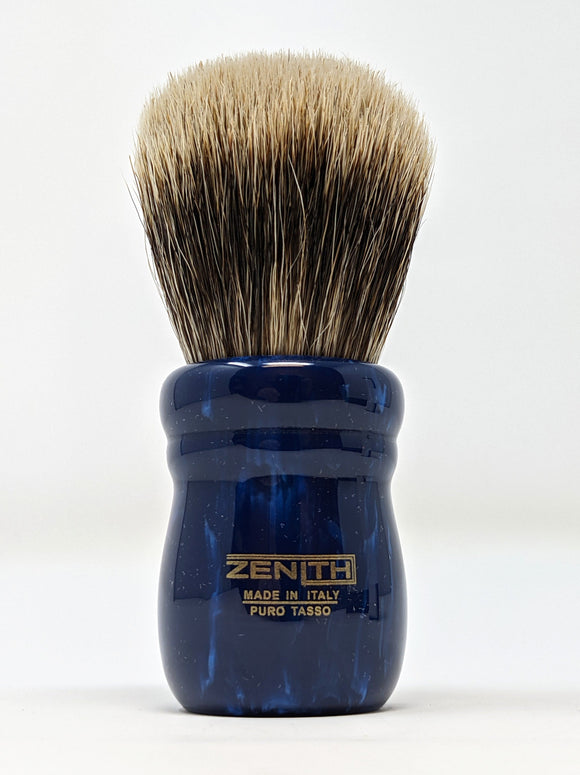 Blue Chubby - 28mm Large Knot Manchurian Brush by Zenith Made In Italy M28