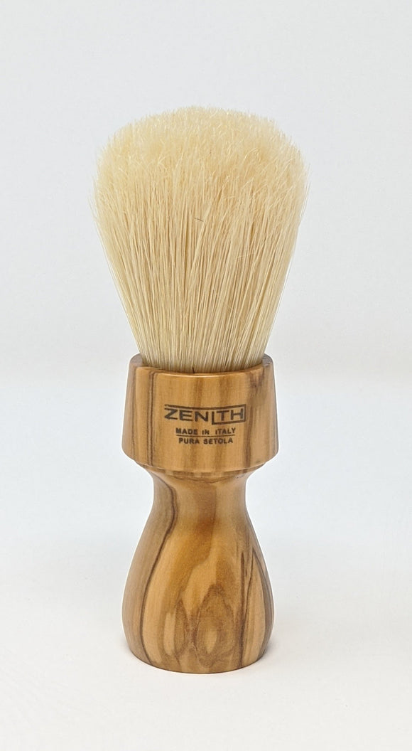 Olive Wood Long Handle Big Boar Brush By Zenith  27.5 x 57mm