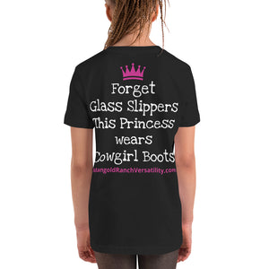 Youth Short Sleeve T-Shirt- Cowgirl Boots