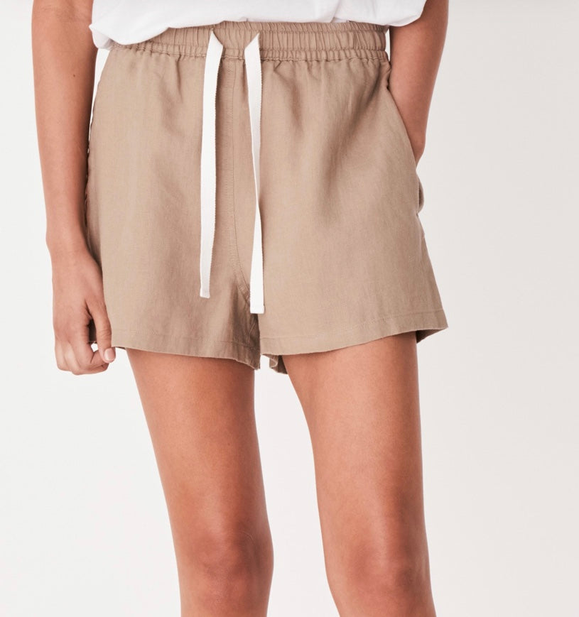 Basis Linen Shorts by ASSEMBLY LABEL