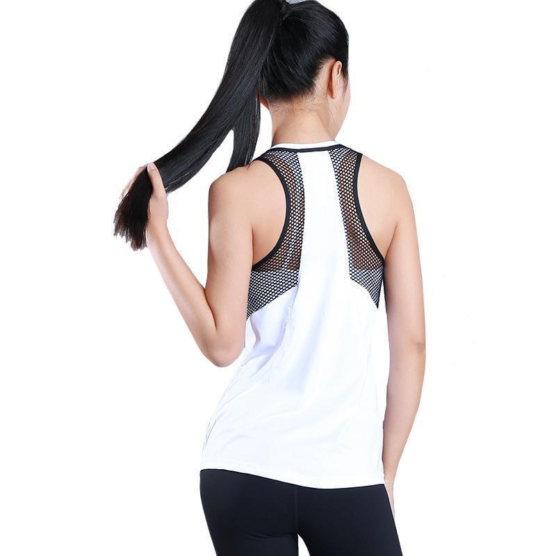 Hollow Mesh Quick Dry Sports Camisole