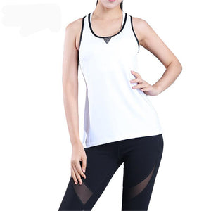 Hollow Mesh Quick Dry Sports Camisole - FitnessAmazons.ca