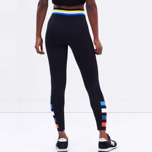 Black 4 stripes leggings - FitnessAmazons.ca