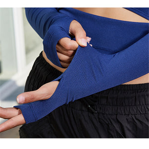 Super soft knitted rib yoga shirt - FitnessAmazons.ca