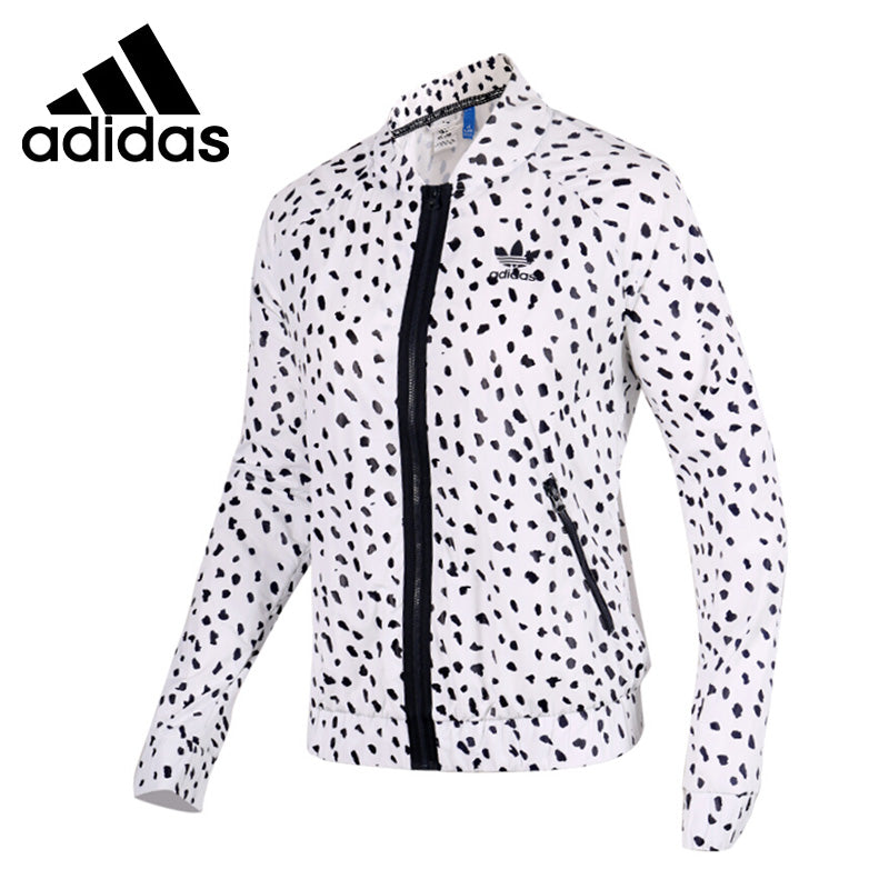 Adidas black spots on white Women's  jacket