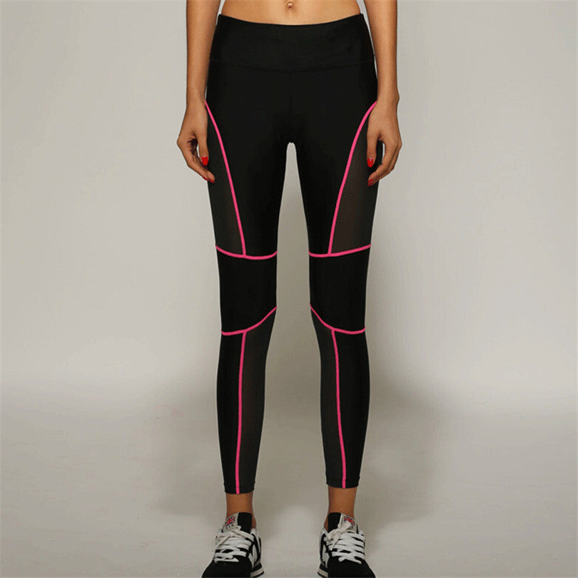 Leggings with fluorescent lining for outside evening jogging