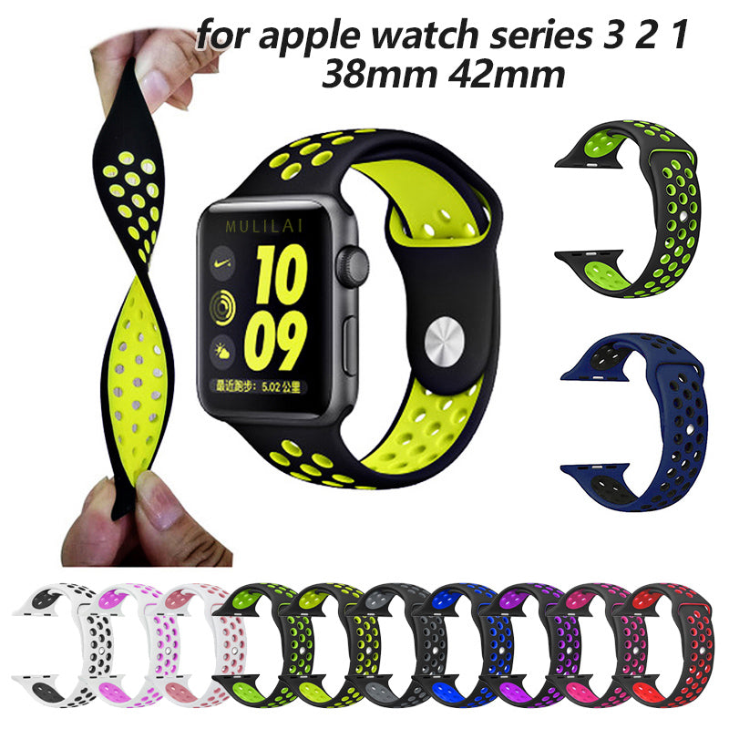 Silicone band strap for Apple watch - Nike 42mm 38mm bracelet