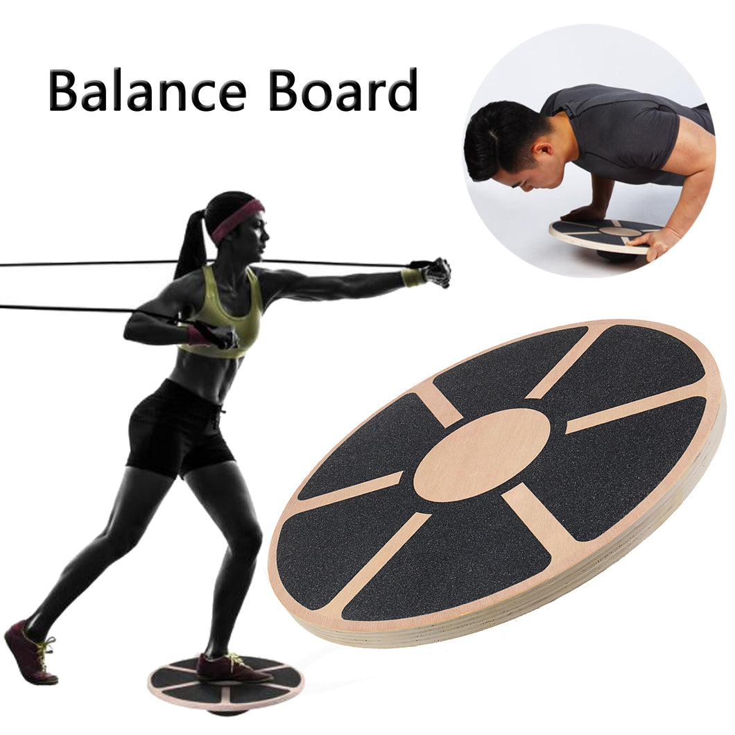 Wooden plated board with no-skid surface to ensure good balance, grip and stability