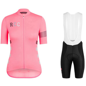 2018 Women Summer Short Sleeve Strap Bib Shorts Cycling Jersey