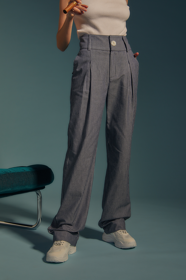 striped jean pants - the sherlock uniform