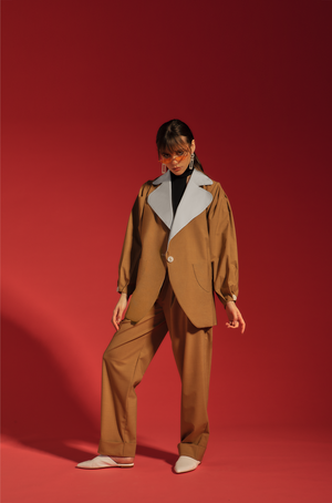 veste dusty beige - the gangster uniform