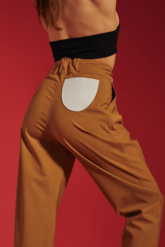 pantalon dusty beige - the gangster uniform
