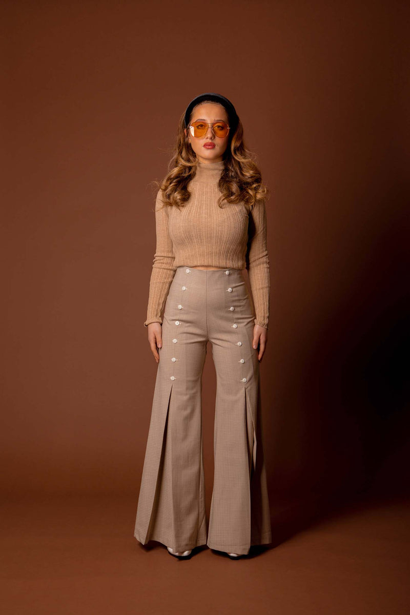 pantalon creamy beige - the school uniform