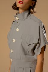 veste gris perle -  the military uniform