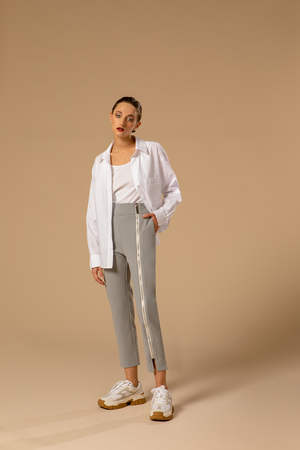 pantalon gris perle - the worker uniform