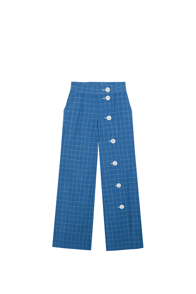 pantalon bleu à carreaux - the air uniform