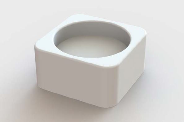 Attivo - BPO2869A Poly-Resin Soap Dish White