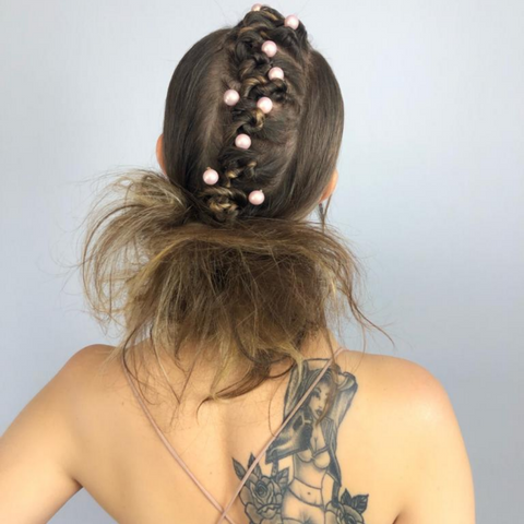 Pink Pewter and Mireya Villarreal Hair Tutorial with Bobby Pins