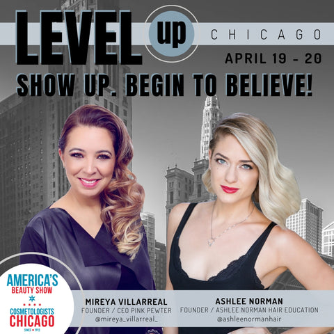 Level Up Chicago Americas Beauty Show Mireya Villarreal Ashlee Norman