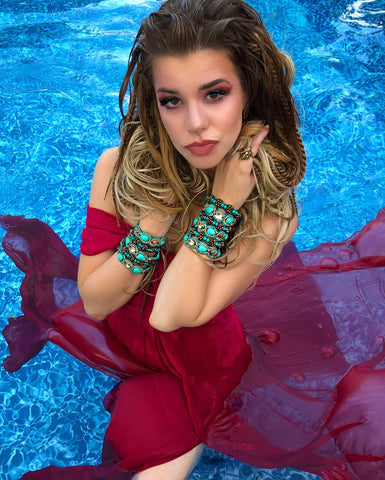 Pink Pewter Pool Photoshoot