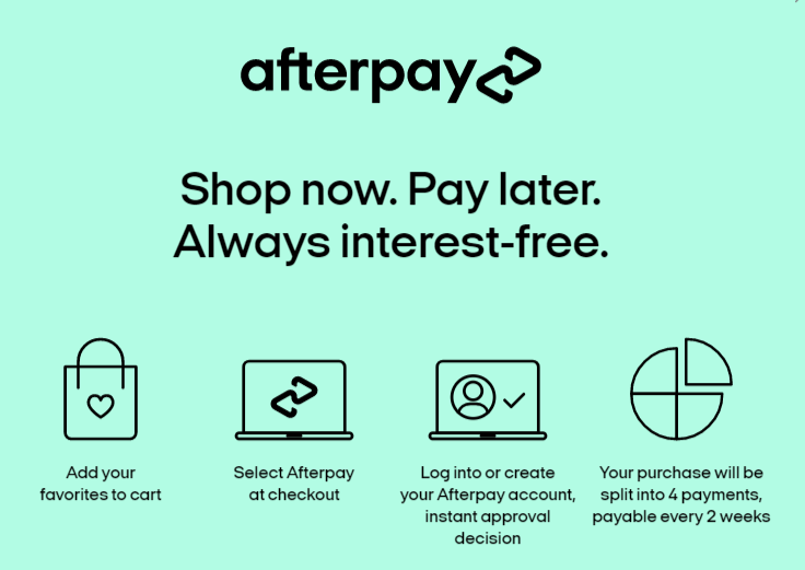Pink Pewter Afterpay Installments Payments