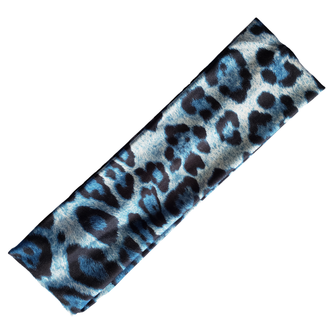 Stella - Silky Sports Wrap (Blue Spots)