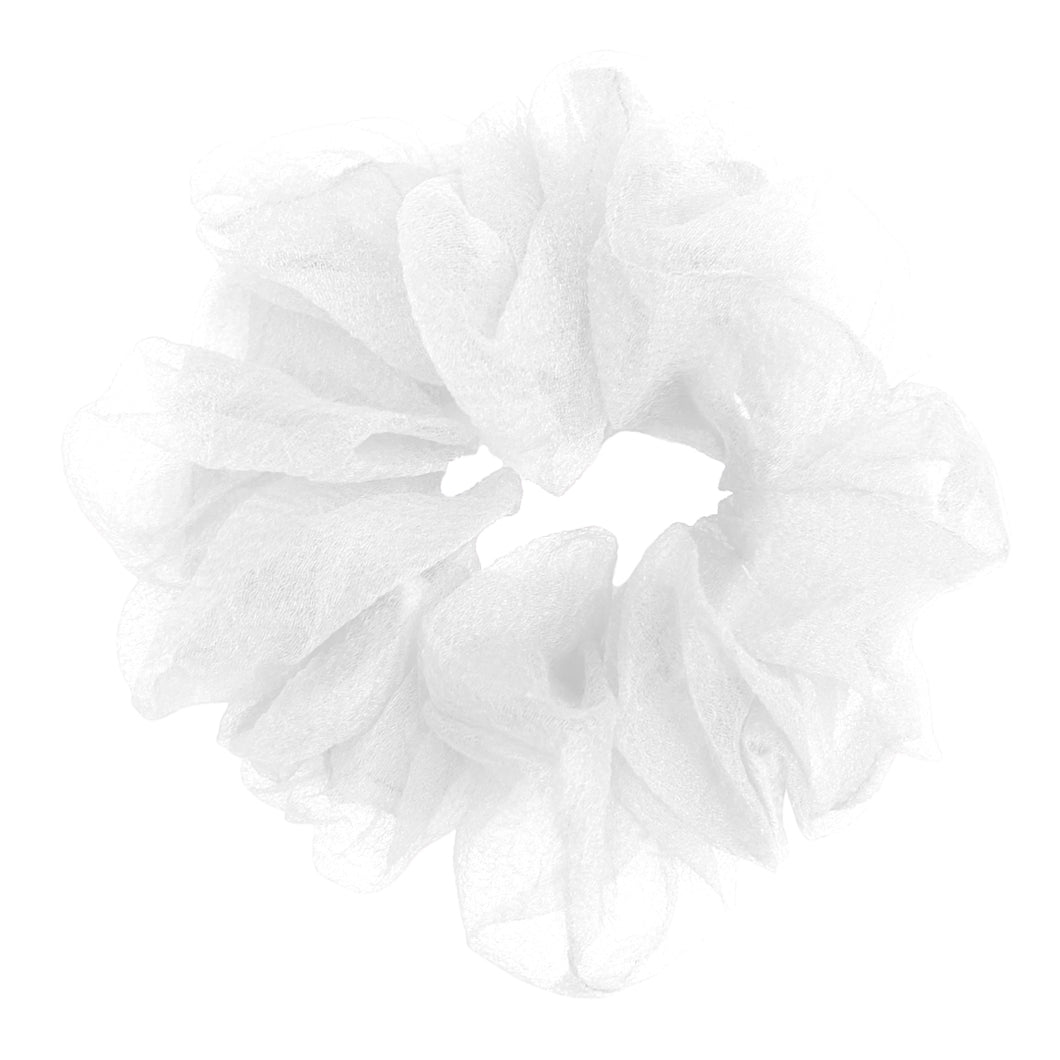 Luxe Sheer and Delicate Scrunchie (Snowy)