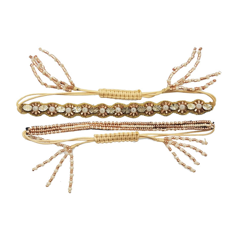 Ember - Drawstring Bracelet Set (2pc)