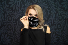 Rue - Wide Sports Wrap / Face Scarf  (Pin Stripes)