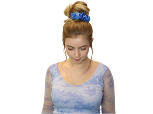 Silky and Smooth Metallic Dots Scrunchie (Almond Crunch)