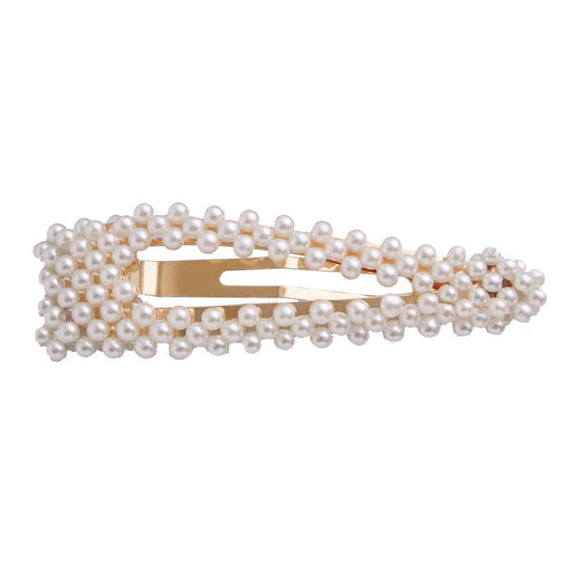 Isabella of Portugal - Beaded Snap Clip (Pearl)
