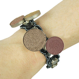 Bendable Magnetic Pin and Makeup Holder Bracelet - (Black)